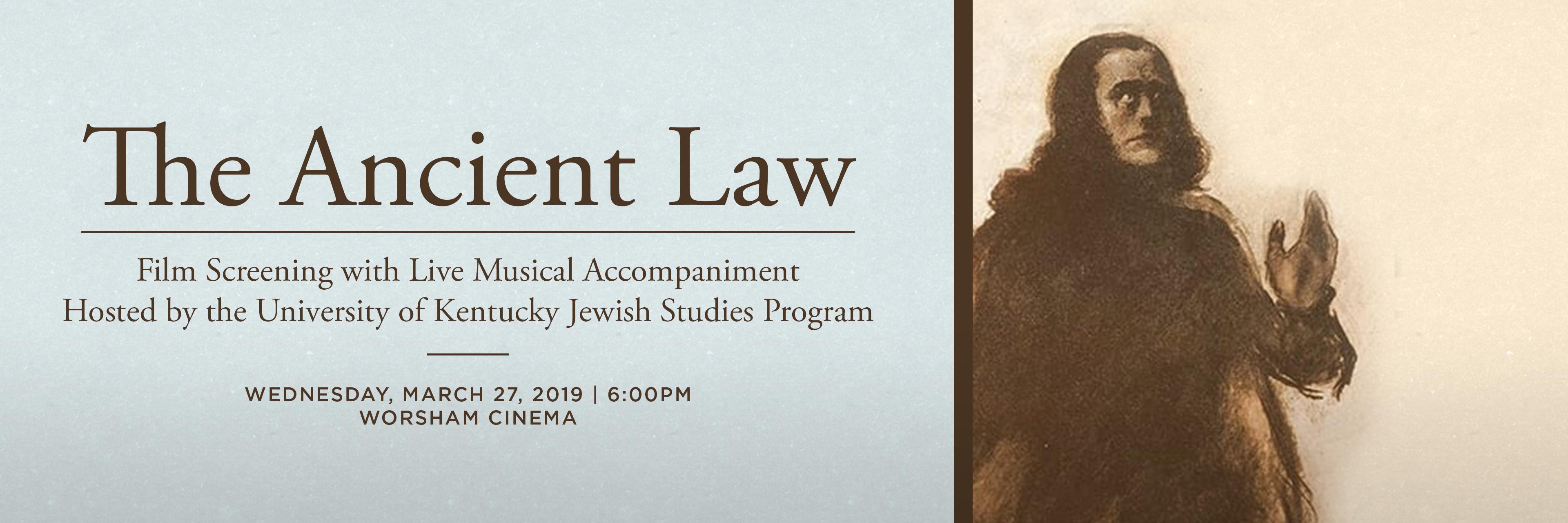 Cine-Concert: The Ancient Law   Jewish Studies